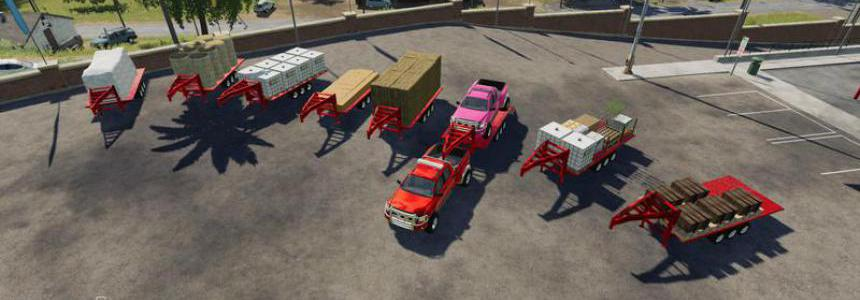 2014 Pickup with semi-trailer and autoload v1.4