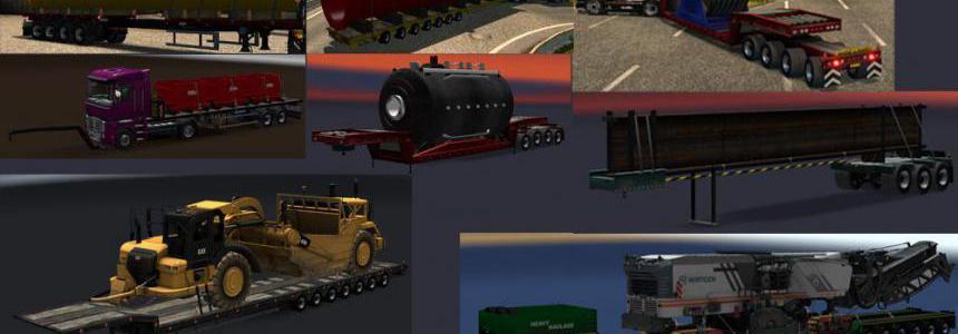 Chris45 Trailers Pack v9.15 for ETS2 V1.36