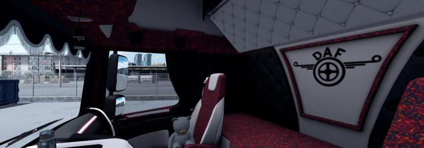Daf XF 106 Holland style interior RED 1.36.x