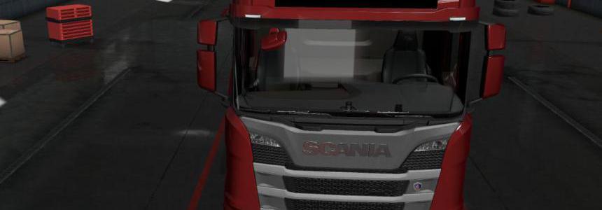 Merry Christmas Lightbox for Scania NextGen 1.36.x