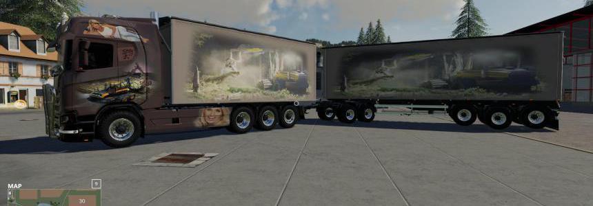 Scaina Woodchips and trailer v1.1