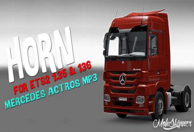MohSkinner - Sound - Horn For Mercedes Actros 2009 1.35