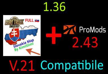 SVK MAP by KimiSlimi v21.0 - ProMods 2.43 Compatibile