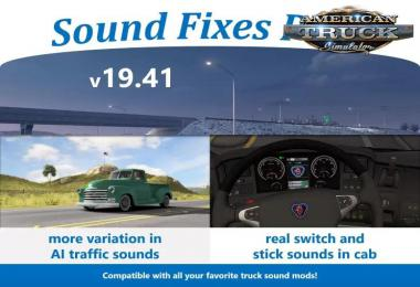[ATS] Sound Fixes Pack v19.41 1.36.x
