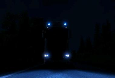 Blue Xenon Lights for Scania S & R (Next Generation) 1.36.x