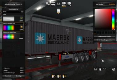 Container Trailer 4 axle 1.36