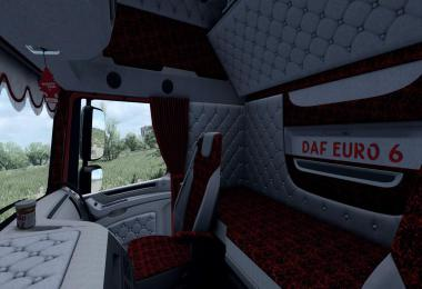 Daf XF 106 Holland style interior RED pluche 1.36.x
