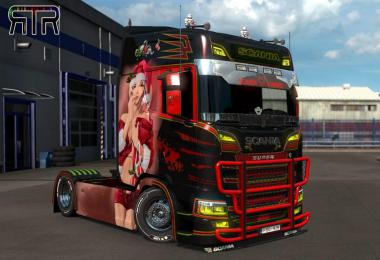 Kate XMas Paintjob for Scania S v1.0