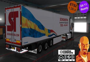 KRONE SCHOUWSTRA TRAILERS ETS2 DX11 1.36.x