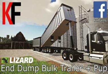 Lizard End Dump Bulk Trailer + Pup Trailer v1.0