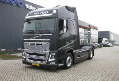 Real D16 Engine Sound For Volvo FH 2012 1.36