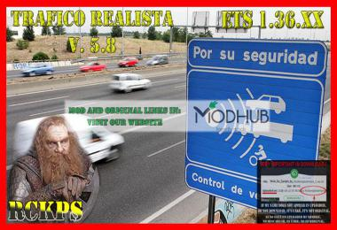 Realistic traffic v5.8 by Rockeropasiempre for 1.36.x