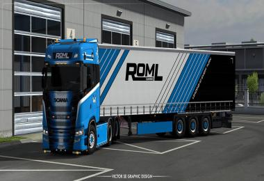 ROML Cargo Special Scania S 2016 and Krone Profiliner Skinpack v1.0