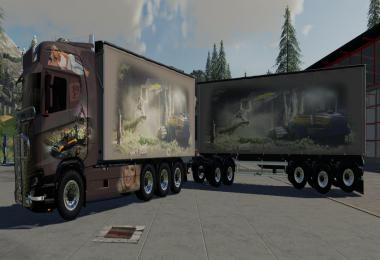 Scaina Woodchips and trailer v1.3