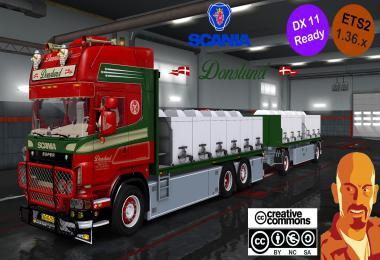 SCANIA R560 DONSLUND + TRAILER ETS2 DX11 1.36.x
