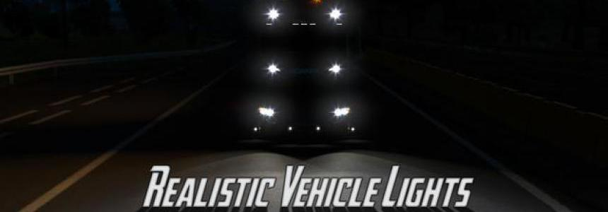 Realistic Vehicle Lights Mod v4.3