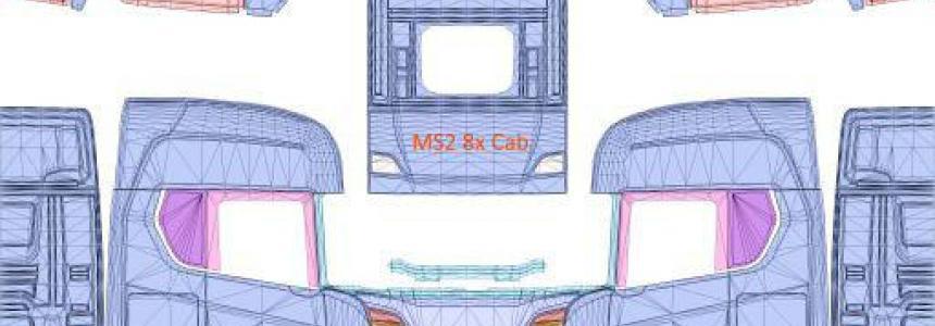 Scania S 8x4 (Heavy) Skin Template HQ (4096x4096) 1.36.x