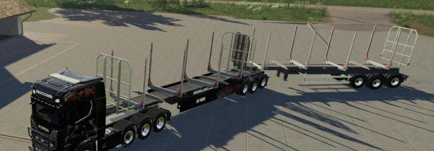 Wood trailer Roadtrain v1.1