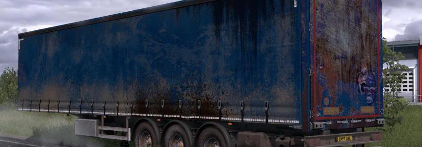 Worn Curtain Trailer Skin Pack v1.0