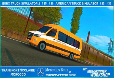 Mercedes Sprinter - Transport Scolaire Morocco 1.36