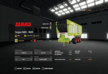 Claas Cargos 9600 v1.0.0.0