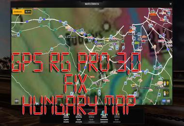 GPS RG PRO v3.0 Fix Hungary Map