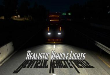 Realistic Vehicle Lights Mod v4.3 ATS 1.36