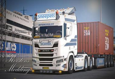 Scania R500 Sneepels transport skin v1.0