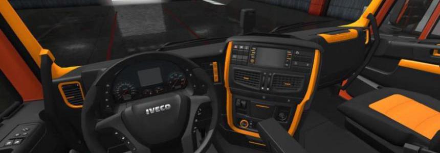 Iveco Hi Way Black - Orange Interior 1.36.x