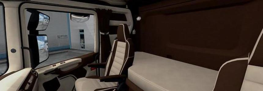 Scania S&R CMI Brown & Beige Interior v1.0