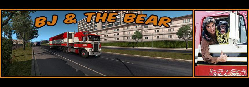 BJ and The Bear truck skin for Kenworth K100E ATS 1.36.x