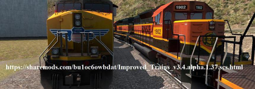 Improved Trains v3.4 alpha for ATS 1.37 open beta