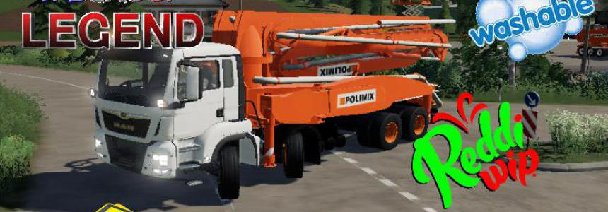 MAN CONCRETE PUMP TRUCK v1.5