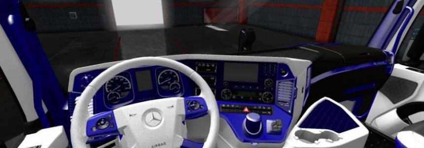 Mercedes Actros 2014 Blue - White Interior 1.36.x