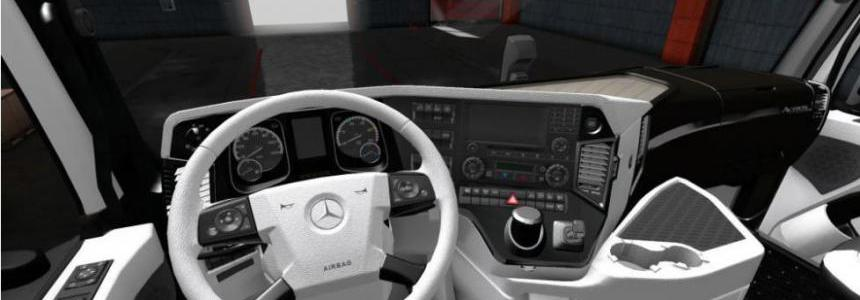 Mercedes Actros 2014 White - Black Interior 1.36.x