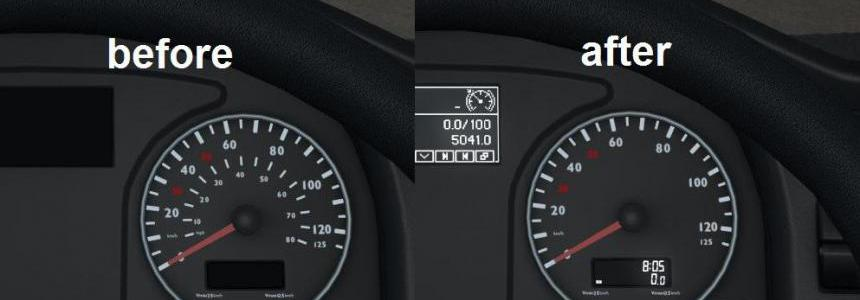 SCS MAN TGX E6 – Speedometer without MPH scale v1.0