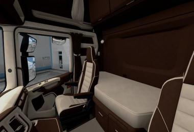 Scania S&R CMI Brown & Beige Interior v1.0