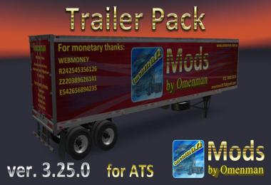 [ATS] Trailer Pack by Omenman v3.25.0 1.36.x