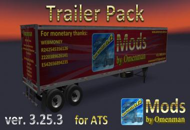 [ATS] Trailer Pack by Omenman v3.25.3 1.36.x
