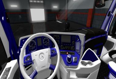 Mercedes Actros 2014 Blue - White Interior 1.36.x