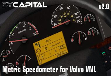 Metric Speedometer for Volvo VNL v2.0
