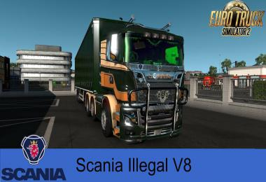 Scania R&S V8 Illegal Reworked v9.0.2 1.36.x