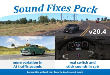 Sound Fixes Pack v20.4 ETS2 only 1.36