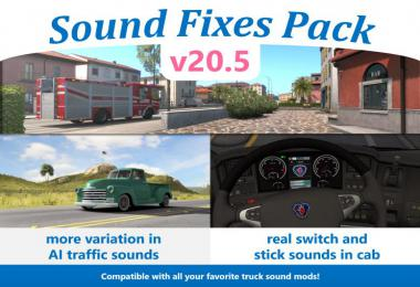 Sound Fixes Pack v20.5 ETS2 1.36