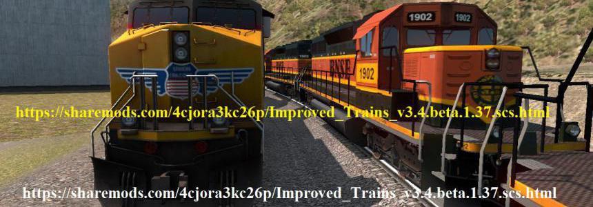 Improved Trains v3.4 beta for ATS 1.37 open beta
