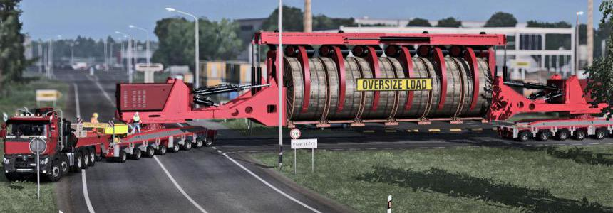 Oversize Convoi Industrial Cable Reel 1.36.x