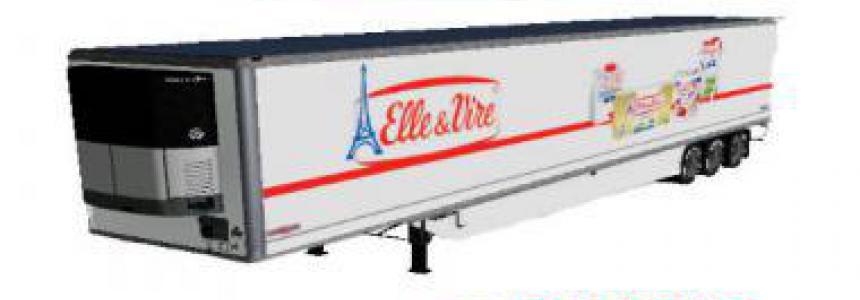 Refrigerated industrial trailer ELLE ET VIRE v1.5