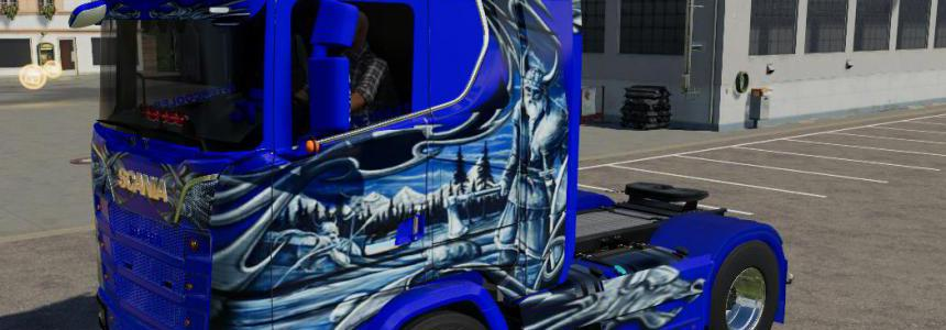 Scania NG schtroumpf v1.0