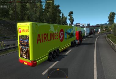 Aerodinamic trailers in traffic 1.36