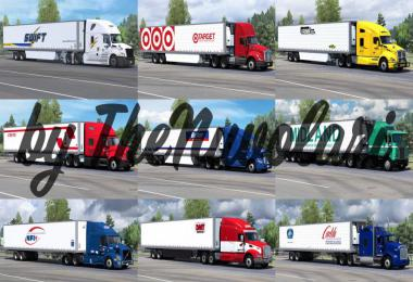 [ATS] SCS 53ft Trailer Skin Pack v1.1 1.36.x